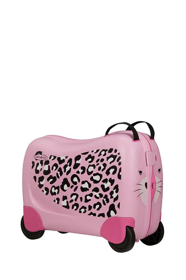 rosa leopard resväska